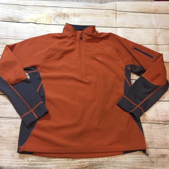 15c150a27 {The North Face} burnt orange pullover
